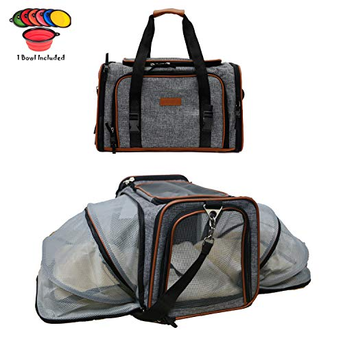 Dog Carrier Pet Carrier for Cats – Cat Carriers for Medium Cats – Dog Carriers for Small Dogs – Small Dog Carrier…