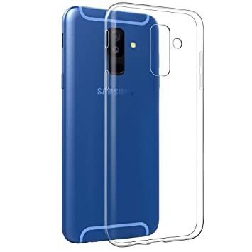 Electrónica Rey - Funda Carcasa Gel Transparente para Samsung Galaxy A6 Plus 2018 - Galaxy A9 Star Lite, Ultra Fina 0,33mm, Silicona TPU de Alta ...