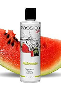 Passion Lubes Water Based Flavored Lubricant, Licks Watermelon, 8 oz