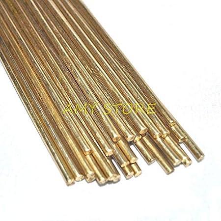 Diameter: 1.0mm Kamas 10pcs Brass Rods Wires Sticks Electrode 1.0//1.2//1.5//1.6//1.8//2.0//2.2//2.5//3.0mm x 250mm Gold Repair Welding Brazing Soldering Rod