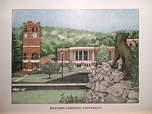 Western Carolina University - Bell Tower 11''x14'' pen and ink print by Campus Scenes (Image #6)