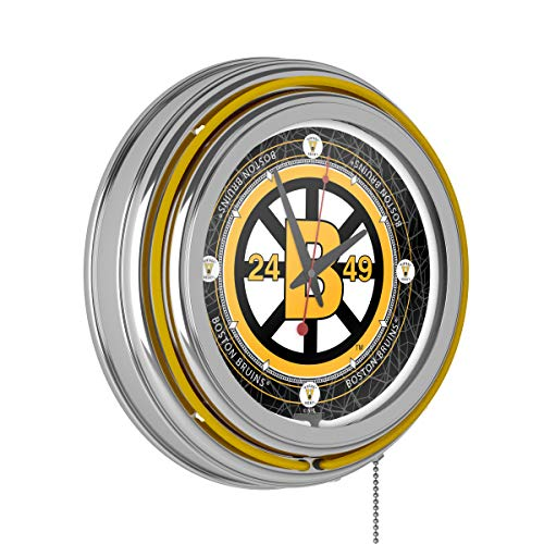 Vintage Boston Bruins174; Neon Clock - 14 inch - Diameter 14 Clock Inch