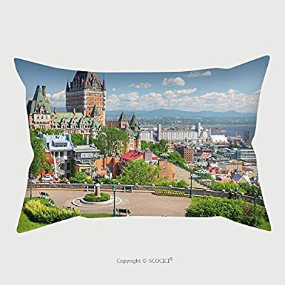 Custom Microfiber Pillowcase Protector Chateau Frontenac In The Old Quebec City 287861729 Pillow Case Covers Decorative