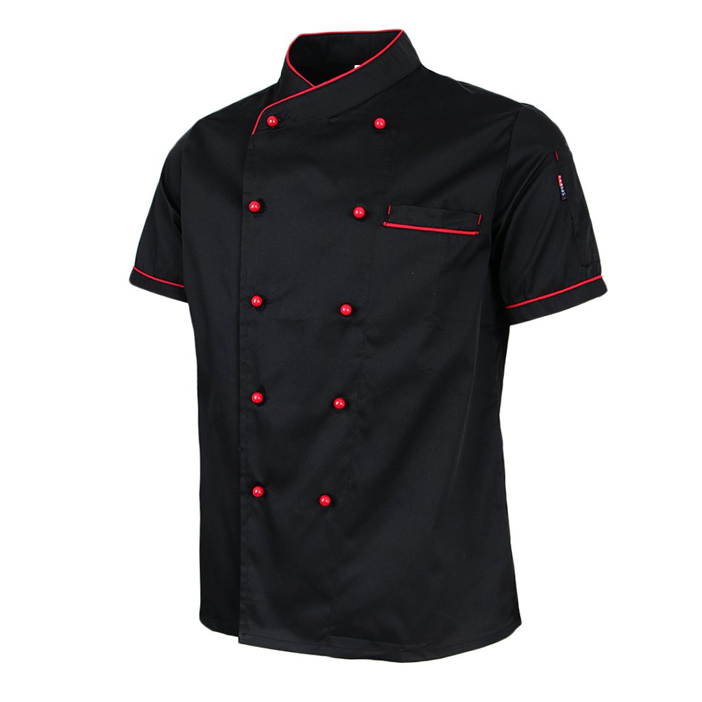 Baoblaze Camice Da Cuoco Unisex Professionale Uniformi Per Hotel Cafe Manica Corta