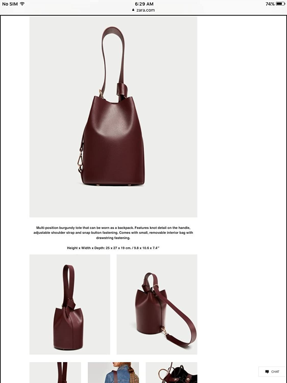 ef3ec03239a Brown Leather Backpack Zara- Fenix Toulouse Handball