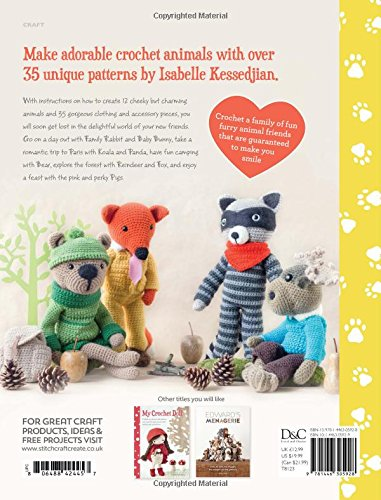 Amazonfr My Crochet Animals Crochet 12 Furry Animal Friends Plus