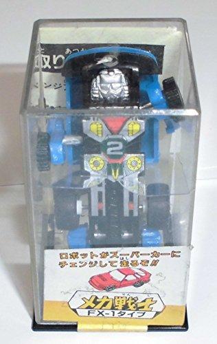 メカ戦士 FX-1タイプ ブルー スーパーカーにチェンジ ロボット ミニカー 当時物 タカラ B01N7SP4QB