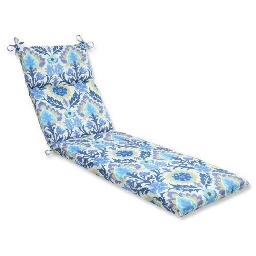 Pillow Perfect Outdoor Santa Maria Chaise Lounge Cushion, Azure