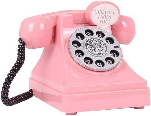 Haiyemao Juguete de teléfono Novedad Hucha Retro teléfono Monedas ...