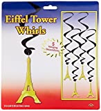 Beistle 54281 Eiffel Tower Whirls, 34-Inch (3)