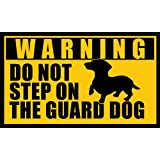 DACHSHUND Do Not Step on the Guard Dog Sticker (i love dach funny)