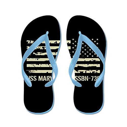 Cafepress Uss Maryland - Flip Flops, Roliga Rem Sandaler, Strand Sandaler Caribbean Blue