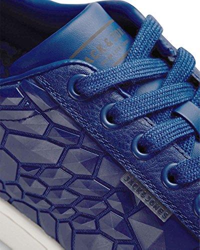 JACK & JONES Herren Sneakers jfwBANE SCIFI 2.0 Schuhe Kunstleder Rot Blau Blau (Limoges Blue)