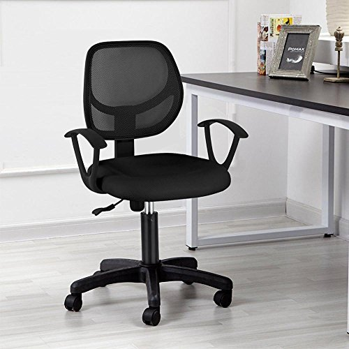 Yaheetech Ergonomic Mesh Computer Office Desk Task Midback Task Chair (Black) by Yaheetech