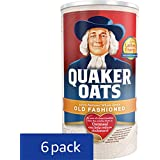 Quaker Old Fashioned Oatmeal, 18 oz Canister (Pack of 6)