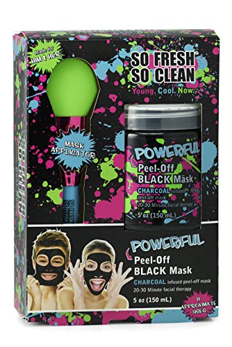 Black: Charcoal Gel Face Mask 5 Oz with Applicator