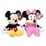 Giftlovers Cute Micky and Minnie Mouse Soft Plust Stuffed Toy - 30 Cm