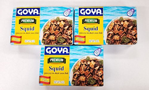 Goya Calamares Tinta Squid, 4 oz. (Pack of 3