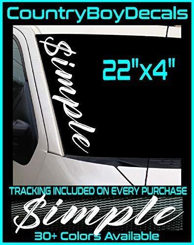 $IMPLE Vinyl Decal 22 Diesel Truck JDM Car Turbo Boost Hated Euro Simple Low GT