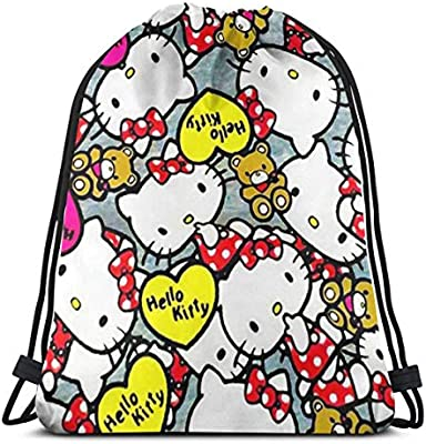 017c76c12 MPJTJGWZ Classic Drawstring Bag-Hello Kitty Gym Backpack Shoulder Bags  Sport Storage Bag for Man Women. Back. Double-tap to zoom