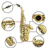 ammoon Brass Golden Carve Pattern Bb Bend Althorn