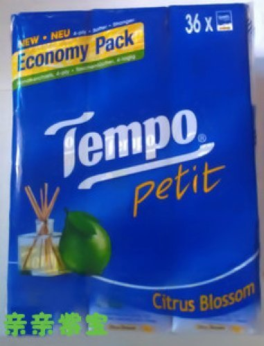 Tempo Pocket Tissues Citrus Blossom X 36pcs Petit by Tempo Pocket Tissues x 36pcs Petit ( NEUTRAL, APPL by Unknown