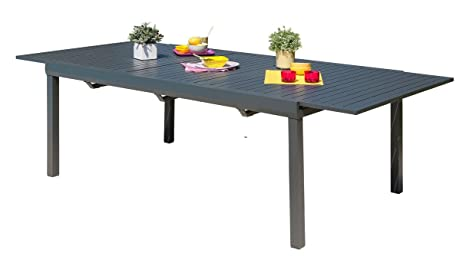 DCB GARDEN MIAMI-TB300 Table alu avec rallonge Automatique ...