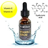 Organic Vitamin C E and A Serum for Face Facial - with Hyaluronic Acid, Anti Aging Wrinkle Dark Spot Remover, Antioxidant Forehead Eye Skin Care
