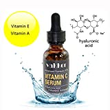 skin lightening with vitamin c serum Organic Vitamin C E and A Serum for Face Facial - with Hyaluronic Acid, Anti Aging Wrinkle Dark Spot Remover, Antioxidant Forehead Eye Skin Care