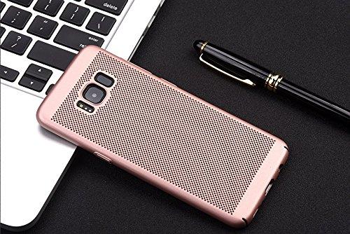 Funda Samsung Galaxy S8 Plus,Alta Calidad Ultra Slim Anti-Rasguño y Resistente Huellas Dactilares Totalmente Protectora Caso de Plástico Duro Case,Cuadrícula Disipación de calor Antideslizante Cover E