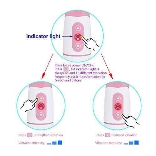 Tutent Upgraded Silicone Vibrators Rabbit Massager Dual Motor 16 Speed G Spot Vagina and Clitoris Vibrating Vibrator(Pale Pink)