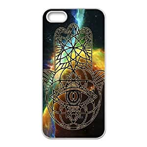 wugdiy DIY Case Cover for iPhone 5,5S with Customized Colorful Hamsa Hand