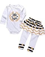 Derouetkia 4Pcs Baby Girls Clothes White...