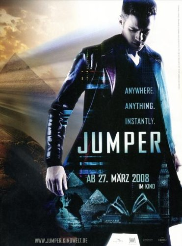 Jumper Poster Movie German 11X17 Hayden Christensen Samuel L  Jackson Diane Lane Rachel Bilson