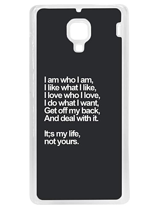 cheap for discount 18ec1 b3df6 RedMi 1S Back Cover - My Life - Attitude Typography: Amazon.in ...