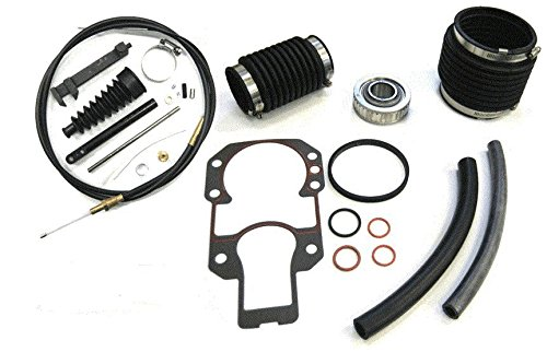 BB Transom Rebuild Repair Service kit with Lower Shift Cable, Bellows, and Gimbal Bearing for Mercruiser Alpha One Gen 1 ()