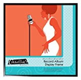 MCS  12.5-Inch by 12.5-Inch Record Album Display Frame  in Black Aluminum