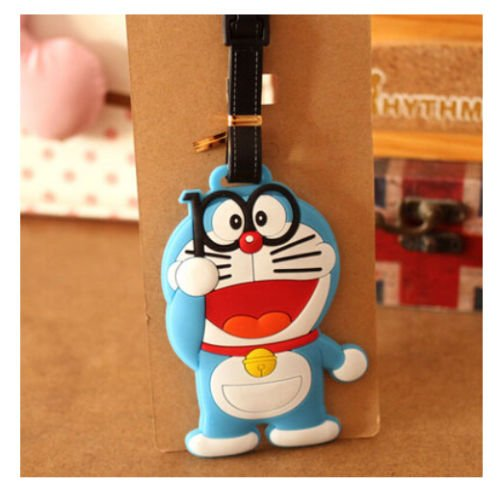 Doraemon blue cat with glass fashion luggage tag baggage tips tags new 1pcs