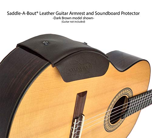 Saddle-A-Bout Leather Guitar Armrest (SMALL, Blonde-Nubuck Suede)