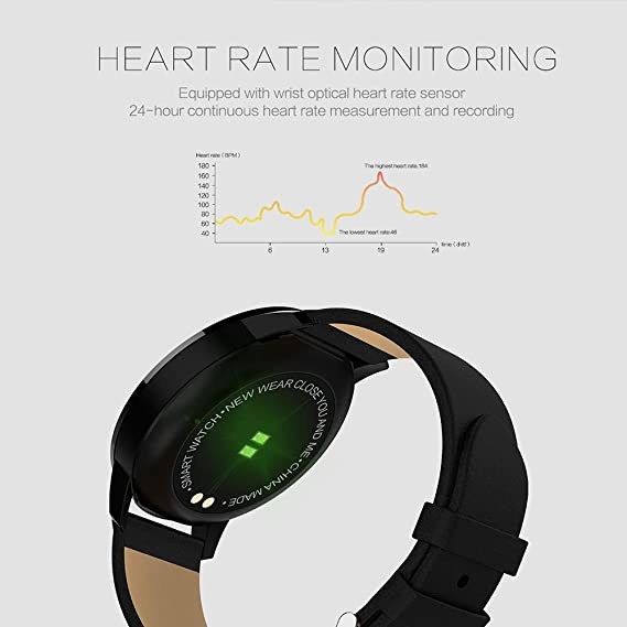 Amazon.com: Smart Waterproof Sports Watch Watch Heart Rate Blood Oxygen Monitor OLED Screen Bluetooth Pedometer Male Female (Color : Blue): Cell Phones & ...