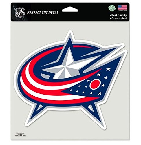 NHL Official Columbus Blue Jackets 8x8 Perfect Cut Decal