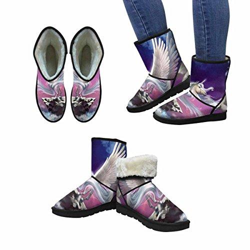 Snow Boots Da Donna Interesse Unicorn Stivali Invernali Comfort Dal Design Unico Multi 1