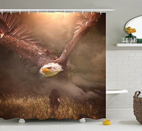 Oasis Original Waterfall (Creative 3D Women Model 100% Bath Give A Hoot Polyester Waterproof Shower Curtain-Bathroom Accessories 66x72)