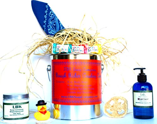 LBK SOAP COMPANY VALENTINES DAY ROUGH RIDER COWBOY CAN