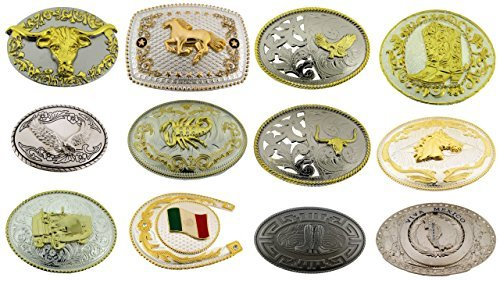 12 Pieces Wholesale Lot Belt Buckle Mexico Flag Bull Eagle Horse Horseshoe Truck from Generic