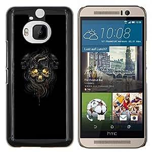 GIFT CHOICE / Teléfono Estuche protector Duro Cáscara Funda Cubierta Caso / Hard Case for HTC One M9Plus M9+ M9 Plus // Negro Oscuro Skulls //