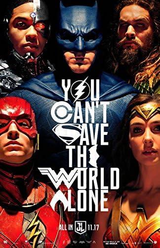 Amazon.com : JUSTICE LEAGUE (2017) Original Movie Poster 27x40 - Ver. B -  Dbl-Sided - Ben Affleck - Gal Gadot - Henry Cavill - Jason Momoa - Ezra  Miller - Amber Heard