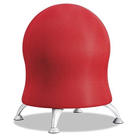 Safco Products 4750CI Zenergy Ball Chair, Crimson - Hill Home Office Collection