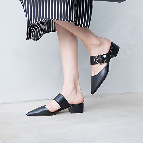 Office Shoes Fashion Party Dress amp; Pointed amp; Shoes XUE Color Summer Career out PU Walking Flops Sandals Slippers Flip Size Breathable amp; Hollow Women's B Dress Shoes amp; B 39 Comfort Career Evening 5ZxqgUn