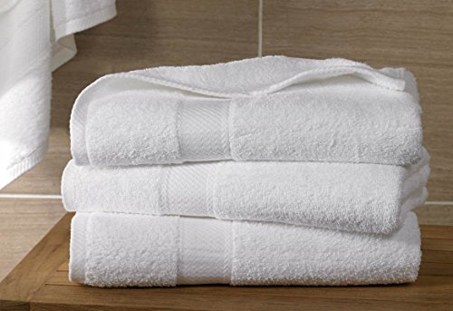 Hampton Inn White Bath Towel  Free Hotel Collection Soap  25  X 54